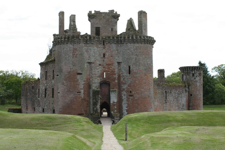 Caerlaverock Castle, the borders Scotland